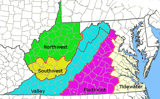 in 1860, the Trans-Allegheny District of western Virginia was divided into Northwest and Southwest districts