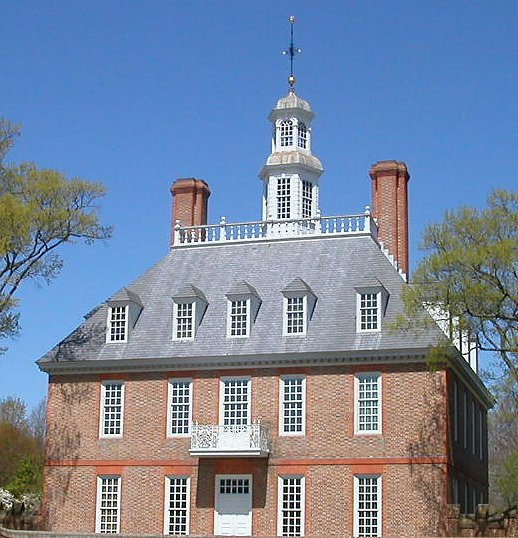 Governor's Palace in Williamsburg, home of the colonial governor - both the chief executive and head of colonial General Court, 1699-1775