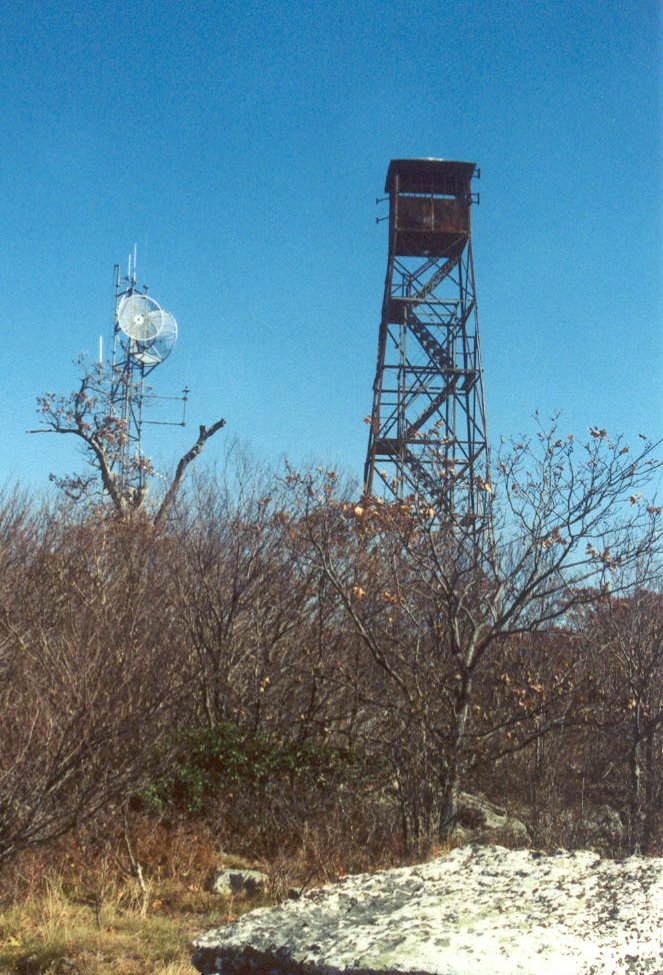 telecommunication and fire towers on Butt Mountain are anchored in Tuscarora Sandstone