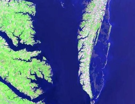 Chesapeake Bay from Landsat 7
