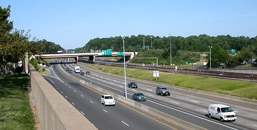 I-66 looking east from Vienna Metro