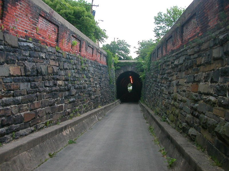 the Wilkes Street railroad tunnel in Alexandria connected the waterfront to the main Orange & Alexandria Railroad station